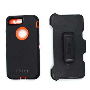 Case Otterbox Defender para Iphone 7/8 plus color negro-naranja