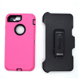 Case Otterbox Defender para Iphone 7/8 plus color negro-rosado