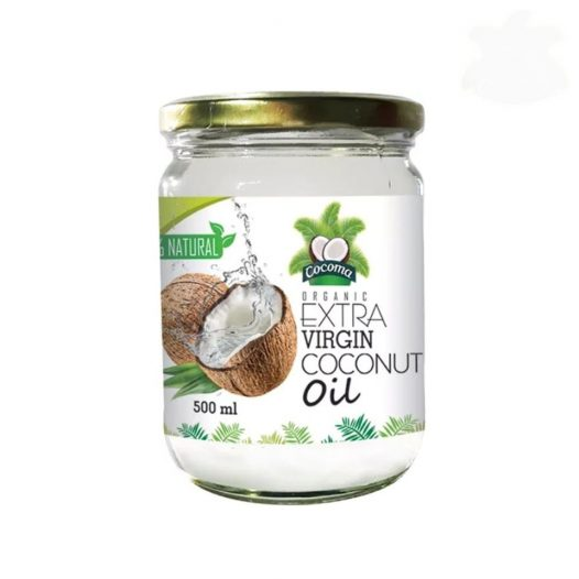 Aceite de Coco Extra Virgen Orgánico marca Cocoma (500ml)
