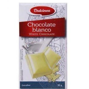 Tableta de chocolate blanco 75 g marca Dulcinea