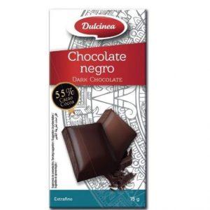 Tableta de chocolate negro 75 g marca Dulcinea