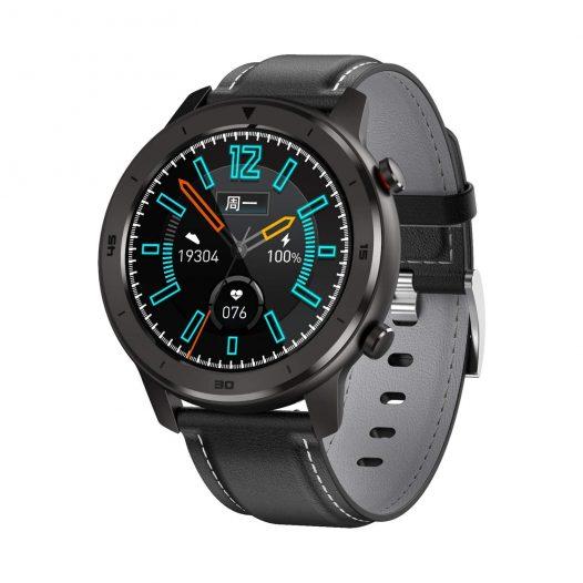 Reloj Inteligente DT-78 marca No. 1 color Negro con Pulsera de Silicon