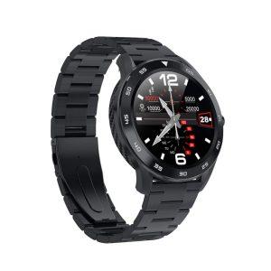 Reloj Inteligente DT-98 marca No. 1 con Pulsera Métalica color Negro