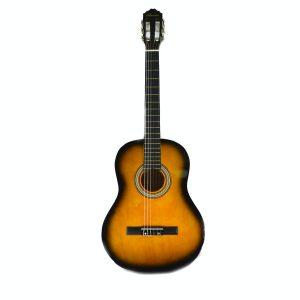 """Guitarra Clásica de 39"""" marca Valenciana color Sunburst (Con Funda)"""