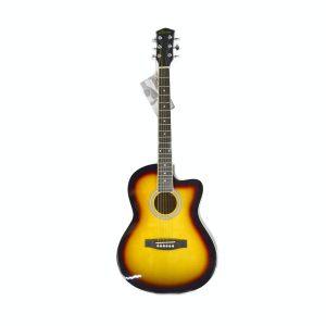 """Guitarra Acustica de 39"""" marca Valenciana color Yamaha / Negro (Con Funda)"""
