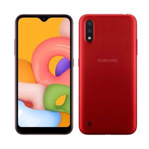 """Celular Samsung Galaxy A01 2GB RAM 16GB 5.7"""" Color Rojo DualSIM (Liberado)"""