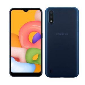 """Celular Samsung Galaxy A01 2GB RAM 16GB 5.7"""" Color Azul DualSIM (Liberado)"""