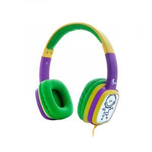 Audífonos Alámbricos Para Niños Plug 3.5mm XTECH Sound Art XTH-350YL