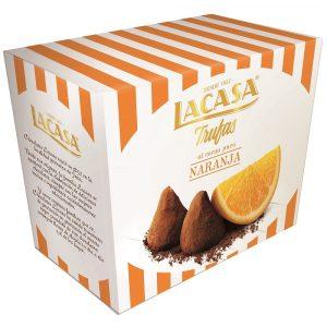 Trufas al cacao puro sabor naranja marca LACASA