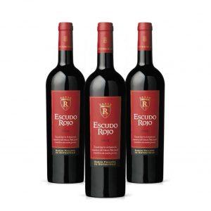 Combo de 3 Botellas de Vino Tinto Escudo Rojo con 30% de Descuento