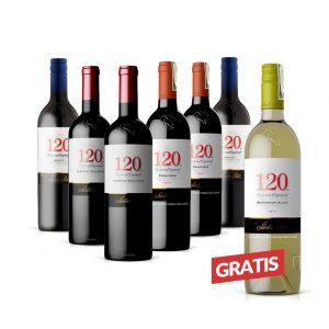 Combo de 6 Vinos Santa Rita + 1 Vino Blanco Santa Rita Gratis