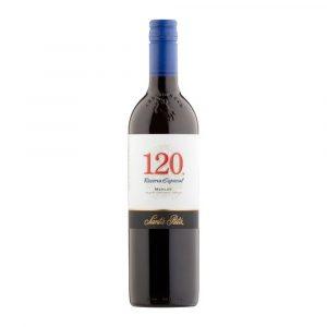 Botella de Vino Tinto 120SANTA RITA- Merlot - Chile - Valle Central