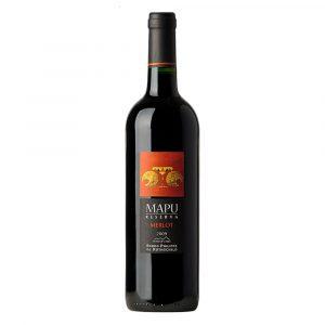 Botella de Vino Tinto Mapu reserva - Merlot - Chile - Valle Central