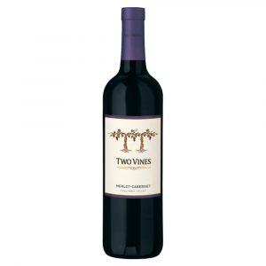 Botella de Vino Tinto Two Vines - Merlot/Cabernet - Estados Unidos, Washington