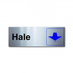 Sticker de Aluminio Hale/Horizontal 20 X 7 (cm)