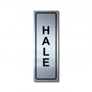 Sticker de Aluminio Hale/Vertical 7 X 20 (cm)