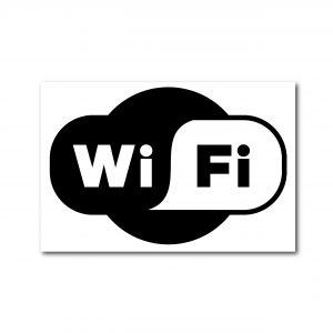 Rotulo Wifi Solo el Contorno del Logo  20 X 30 (cm) material estireno