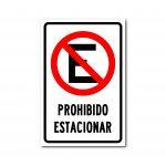 Rotulo Prohibido Estacionar 30 X 45 (Cm) material estireno