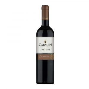 Botella de Vino Tinto Insigne Carmenere - Carmen