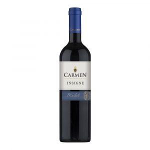 Botella de Vino Tinto Insigne Merlot - Carmen