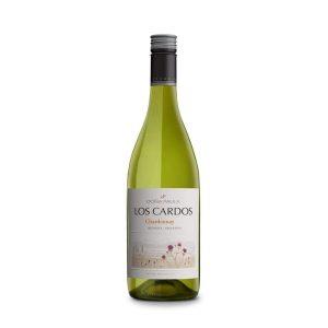 Botella de Vino Blanco Los Cardos - Chardonnay - Argentino - Doña Paula
