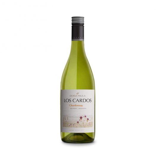 Vino Los Cardos Chardonnay marca Doña Paula