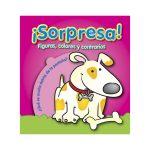 Libro con preguntas - Figuras,colores,contrarios marca ¡Sorpresa!