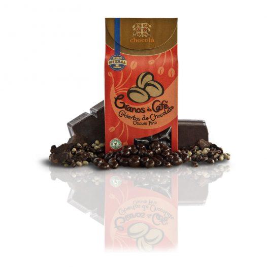 Chocolá granos de café cubiertos de chocolate oscuro fino (115g)