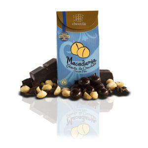 Macadamia cubierta de chocolate oscuro fino  (115g)