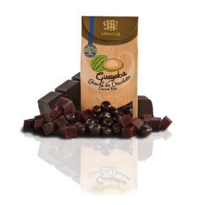 Guayaba cubierta de chocolate oscuro fino (115g)