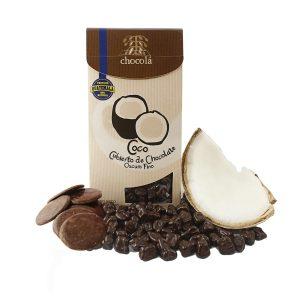 Coco cubierto de chocolate oscuro fino (115 g)