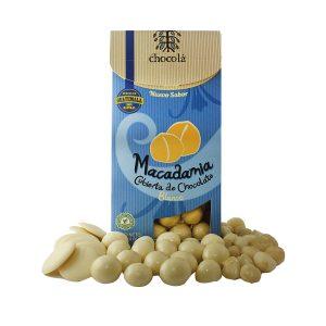 Chocolá macadamia cubierta de chocolate blanco (115g)