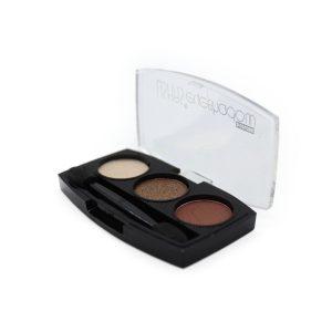 Sombras USHAS 3 colores (matte vainilla, marrón, nacarado marrón)