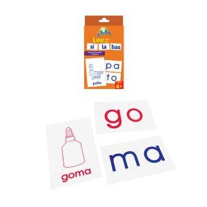 Juego para niños Cartas «Las Silabas» Mis Pasitos