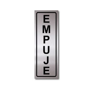 Sticker de Aluminio Empuje/Vertical 7 X 20 (cm)