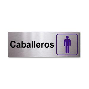 Sticker de Aluminio Caballeros/Horizontal 20 X 7 (cm)