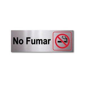 Sticker de Aluminio No Fumar/Horizontal 20 X 7 (cm)