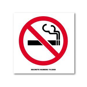 Rotulo No Fumar 25 X 25 (cm) material estireno