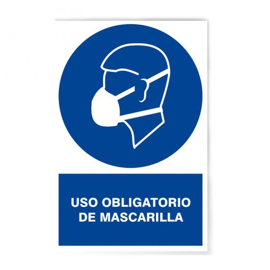 Rotulo Obligatorio Uso De Mascarilla  20 X 30 (Cm)