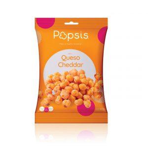 Poporopo a medio reventar sabor Queso Cheddar 90 g marca Popsis