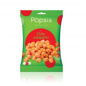 Poporopo a medio reventar sabor Jalapeño 90 g marca Popsis