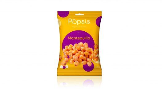 Maiz a medio reventar sabor mantequilla marca Popsis