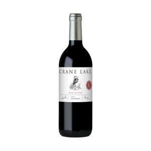 Botella de vino tinto Crane Lake Red Blend 750ml.