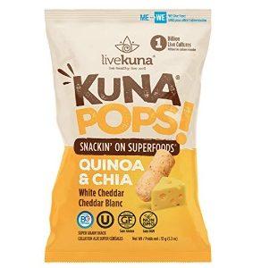 Kuna Pops sabor Queso Blanco marca LiveKuna