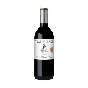 Botella de vino tinto Crane Lake Shiraz 750ml.