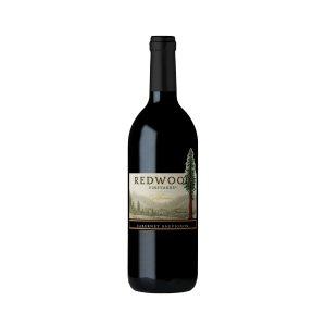 Botella de vino tinto RedWood Vineyards Cabernet Sauvignon 750ml.