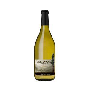 Botella de vino blanco RedWood Vineyards Chardonnay 750ml.