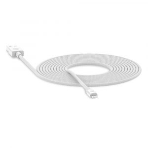Cable USB A to Lightning de 3m marca Mophie Color Blanco