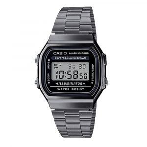 Reloj digital metalico Casio negro A168WGG-1ADF