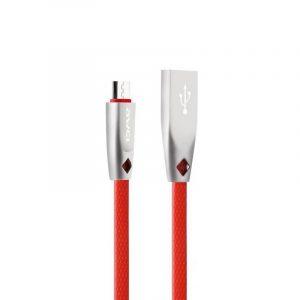 Cable de Carga Micro USB marca Awei color Rojo de 1 Metro